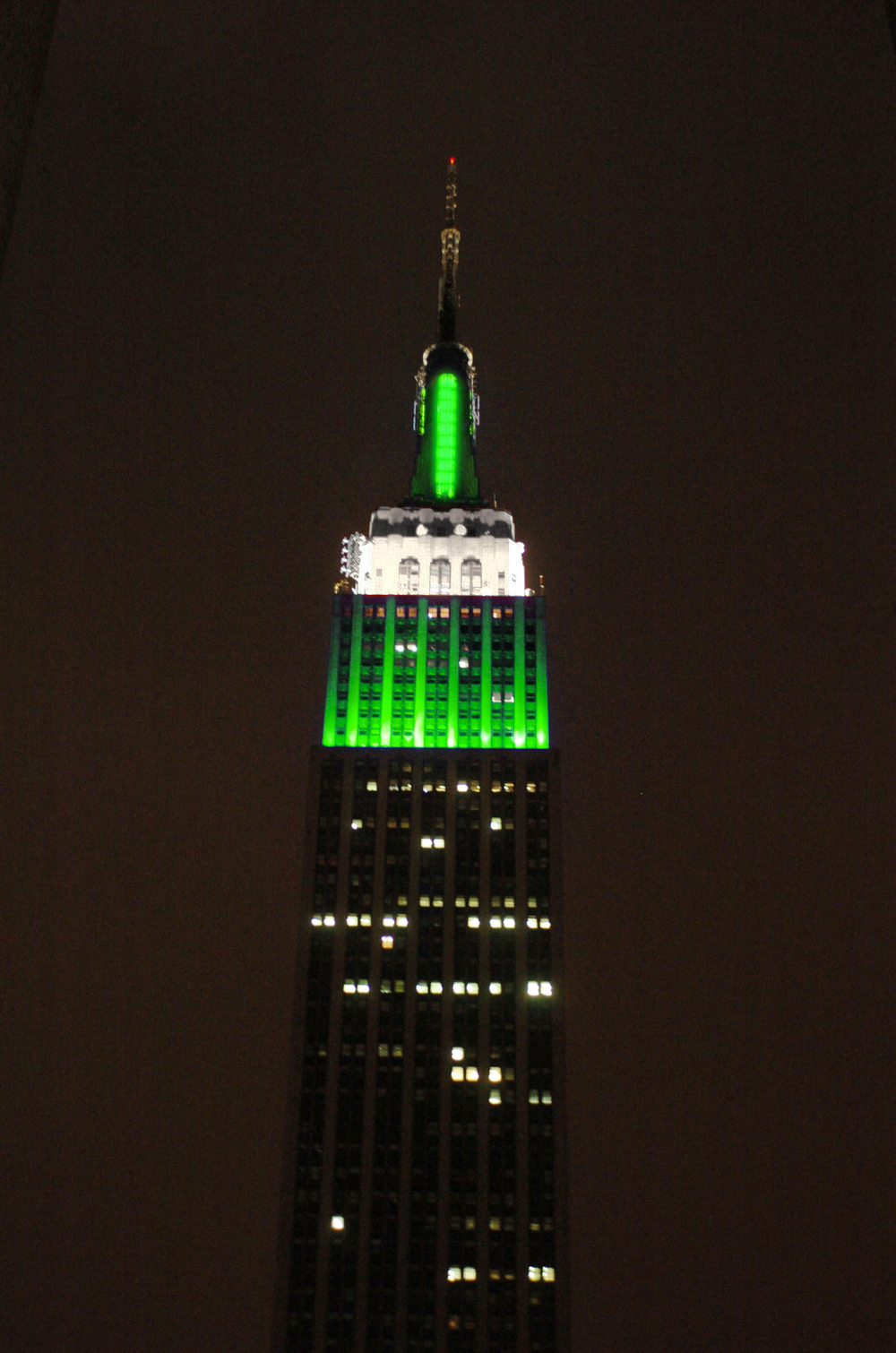 Empire State Building in Green!