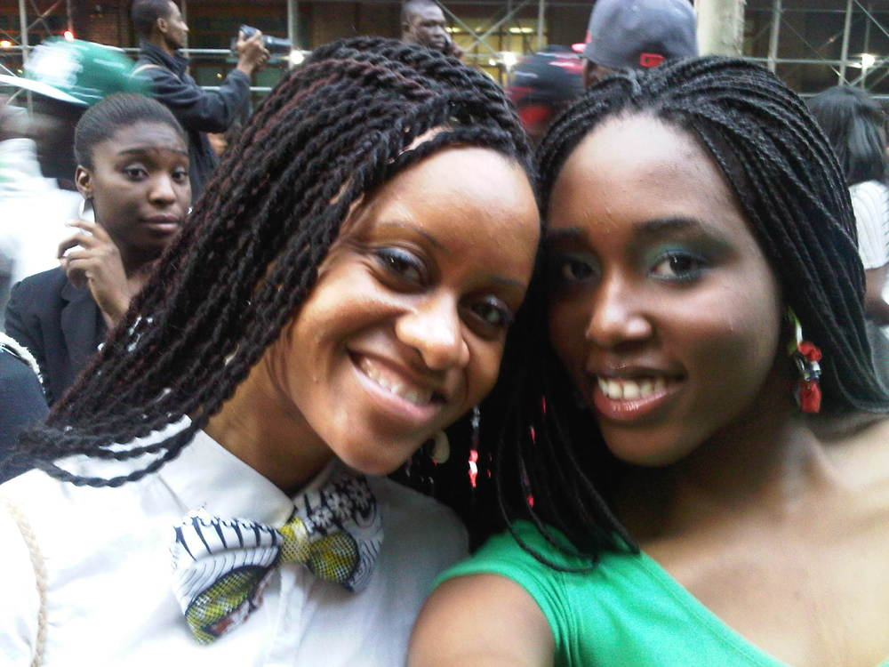 Me and Chikara at the 2011 Nigerian Independence Parade