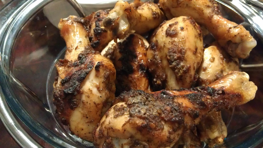 Jerk chicken - I know we already have some poultry in the turkey.....but I always felt a little extra couldn't hurt!