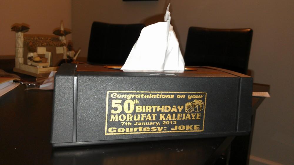 A tissue box holder!
