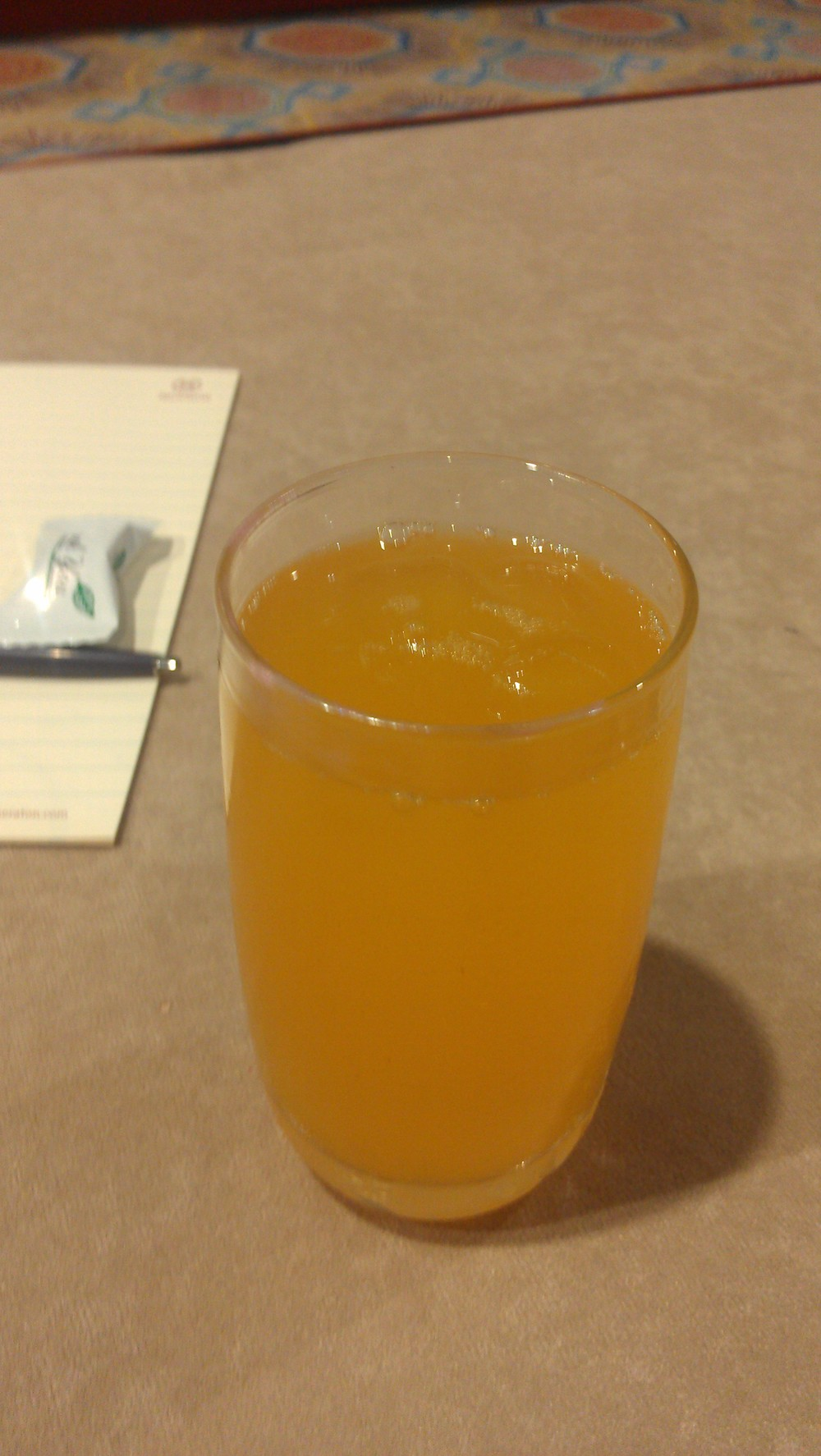 Fresh passion fruit juice with breakfast. That was new!