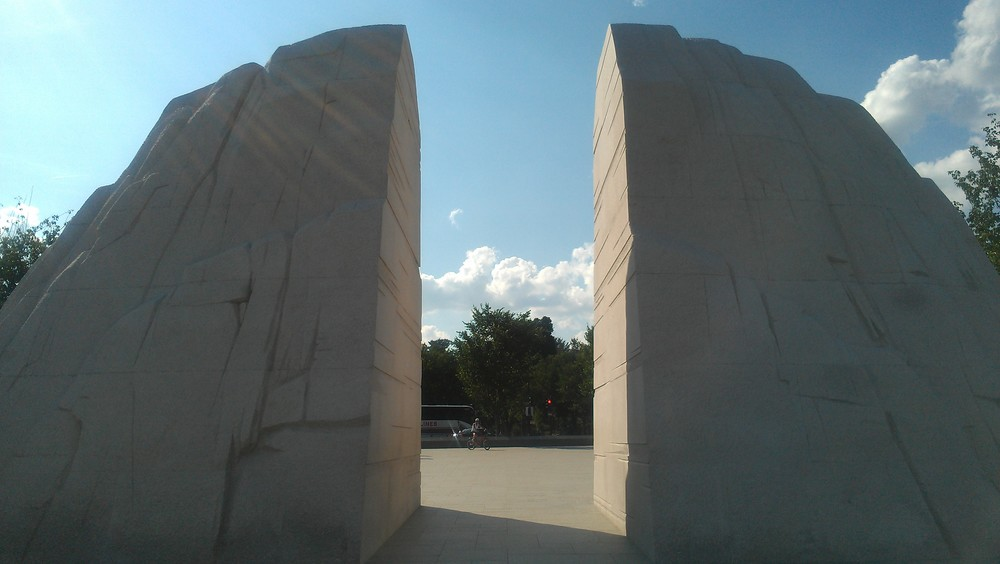 Loved the cracked wall opening to the MLK memorial.....but as my brother rightfully said.....watch out for funny shaped tiles in the ground, lol. Don't wanna trigger an Indiana Jones moment....