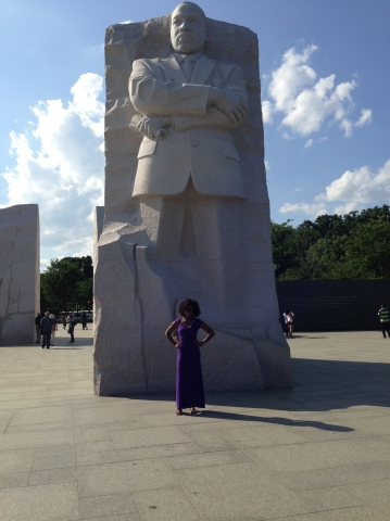 Me in front of the MLK memorial! Great spot to take pictures if you make it down there!