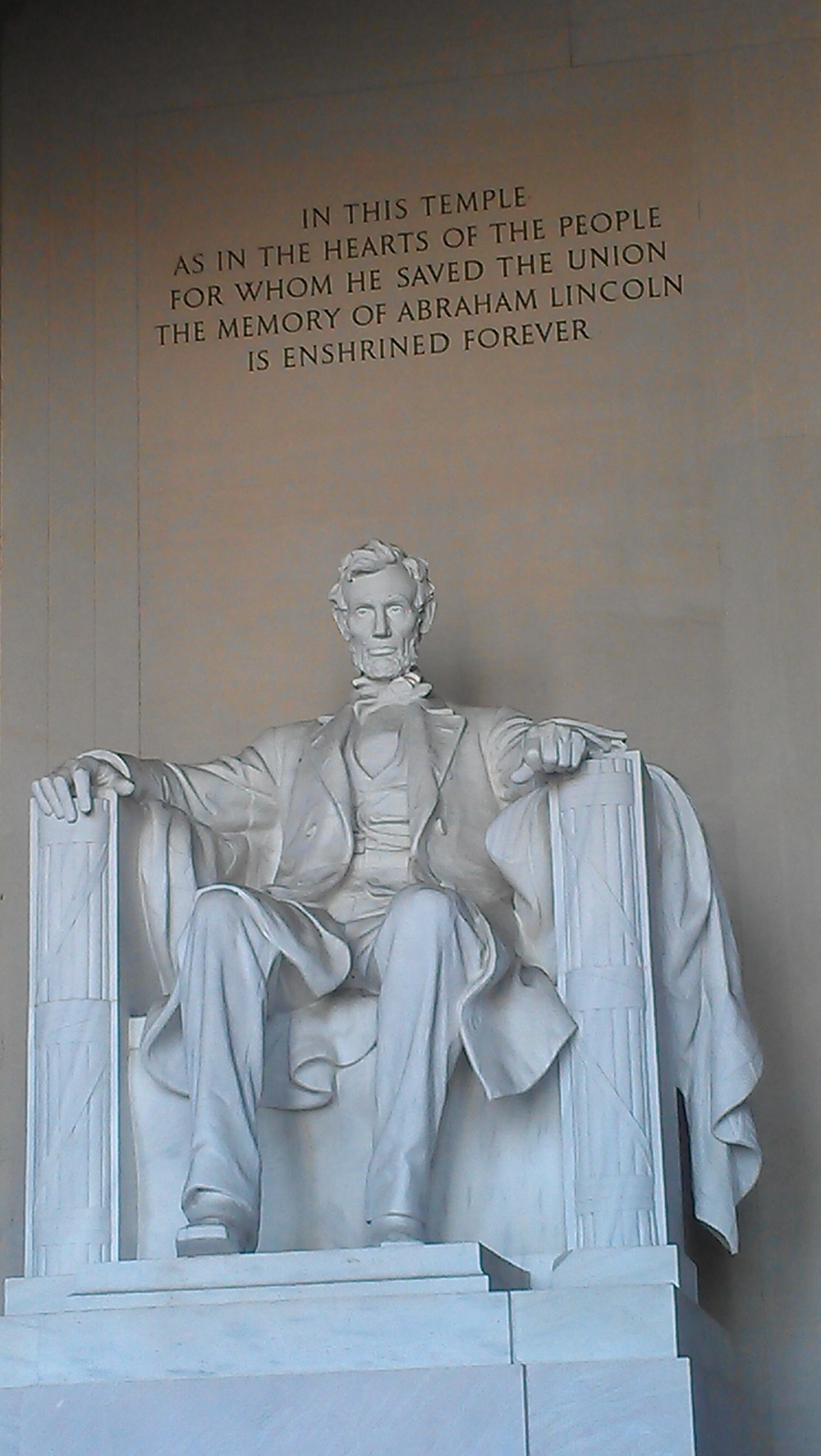 Loved the detail on this sculpture of Lincoln inside of the memorial.....awesomeness. You have to see it in person.