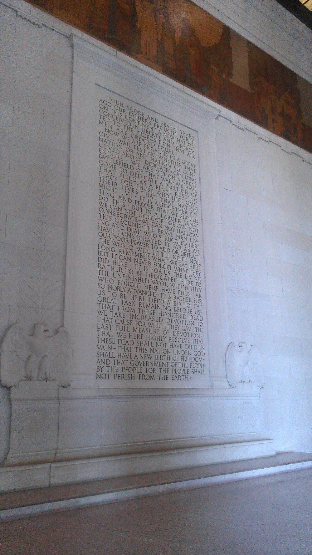 Gettysburg Address on the wall
