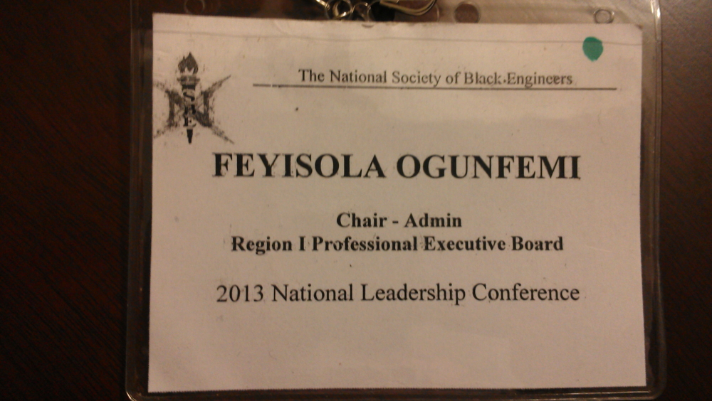All badged and ready to go! Not sure how many NSBE badges I have at this point, lol.