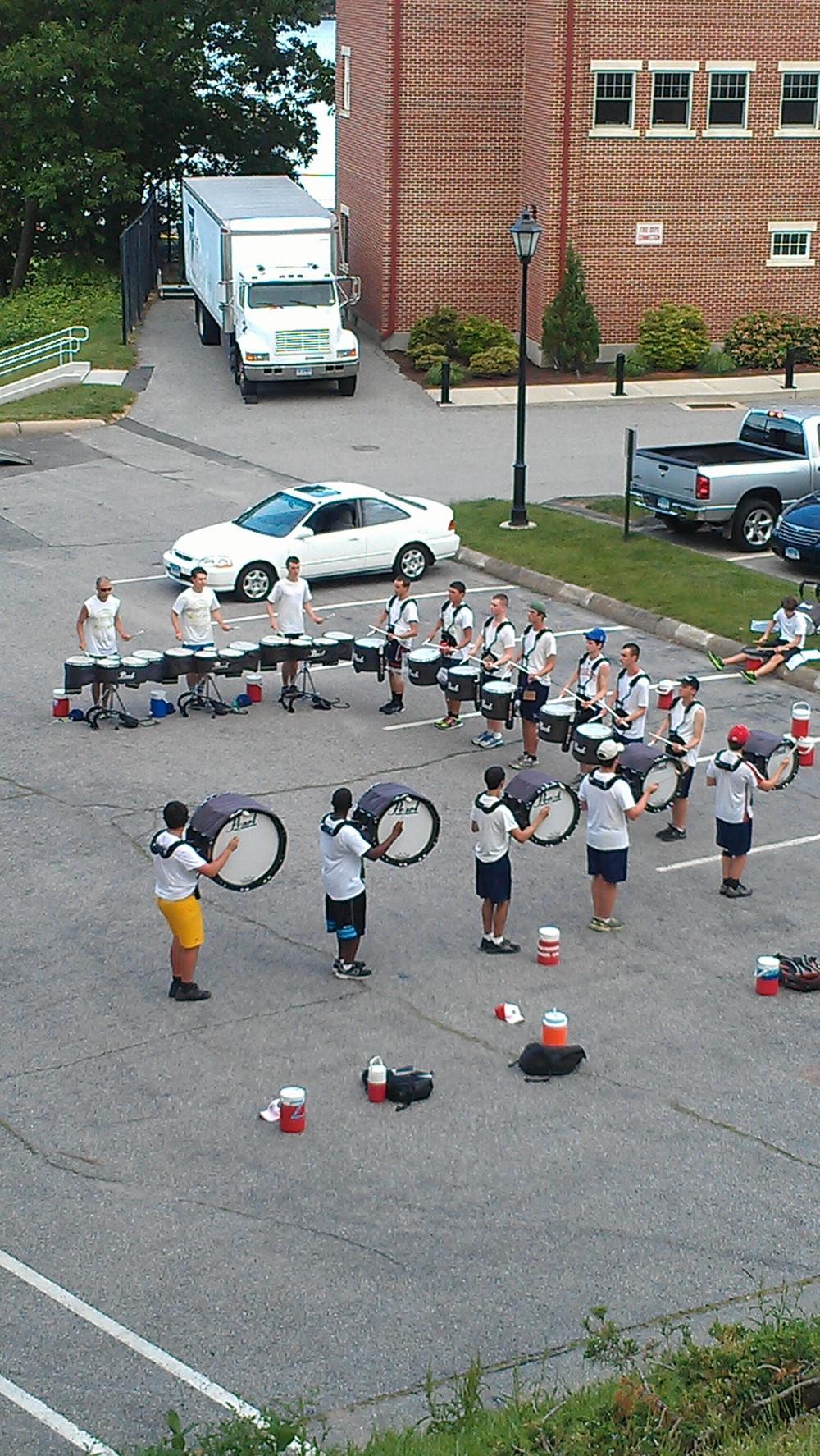 We also got to see the USCGA drumline at practice....and they were good!