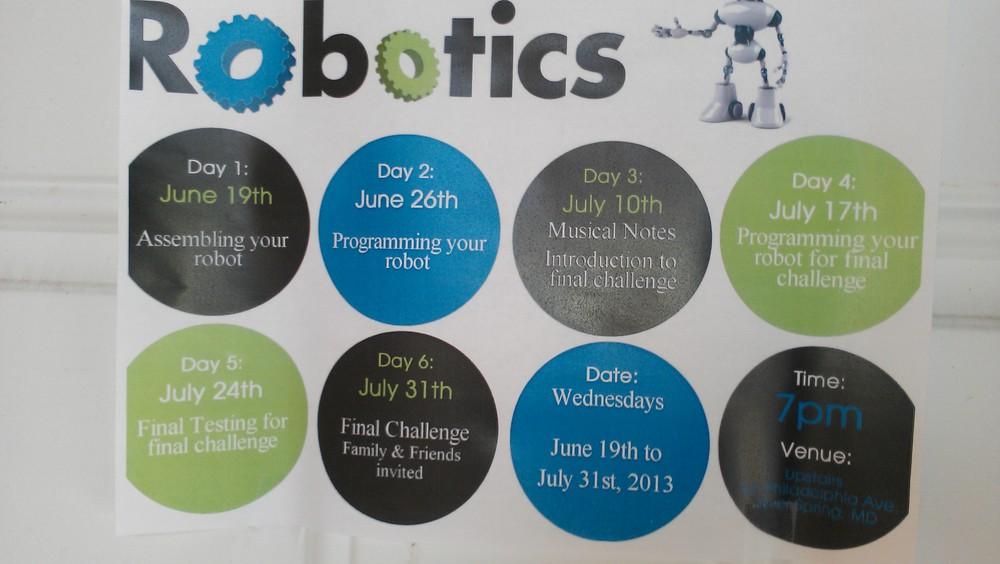 Robotics Camp flyer