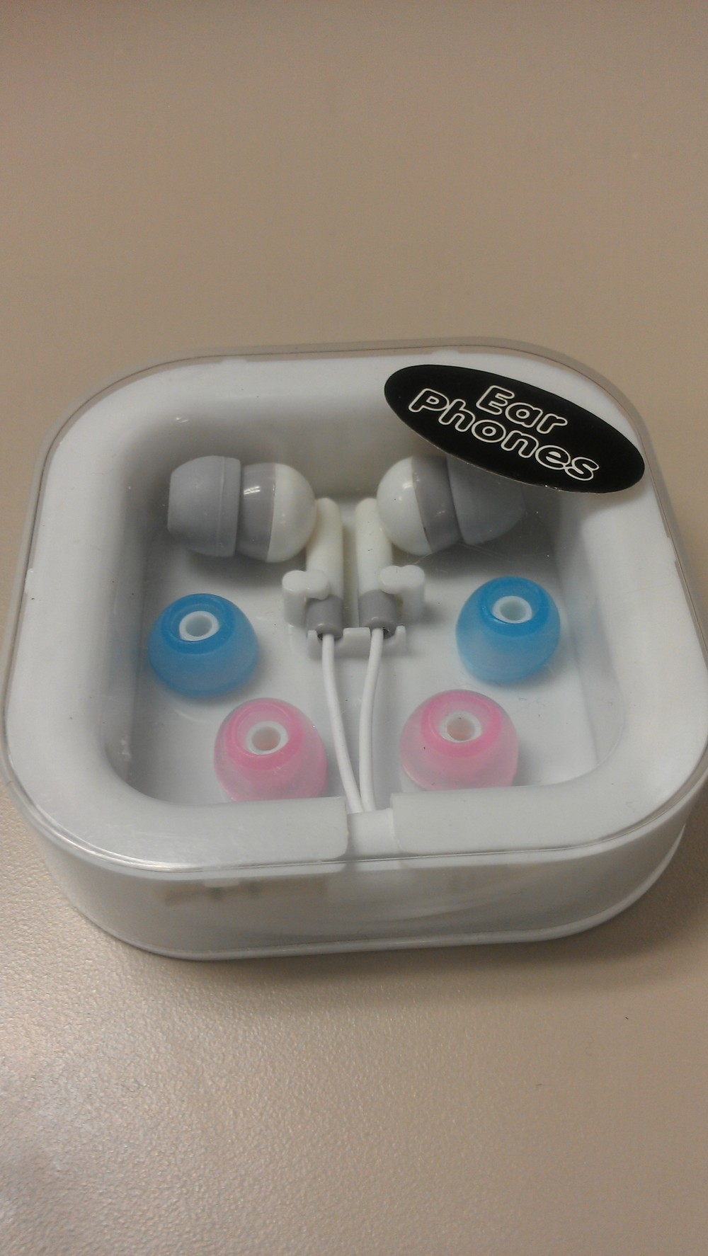 I also randomly stopped by the Dollar Tree.....and who knew they sold ear buds? $1 sounds better to me than $20!