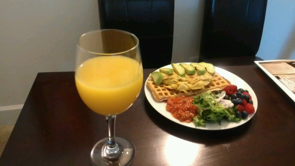 You know we had to add a side of mimosa!!