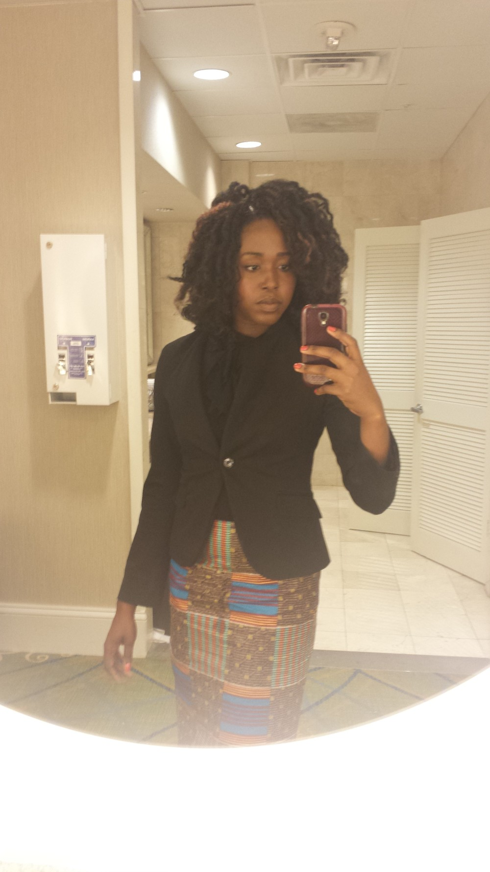 How I wore it on most days. O, and I loooove that pencil skirt!