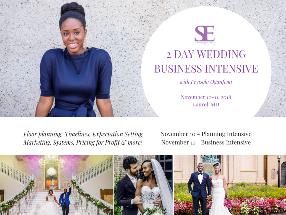 workshop and class for wedding planners