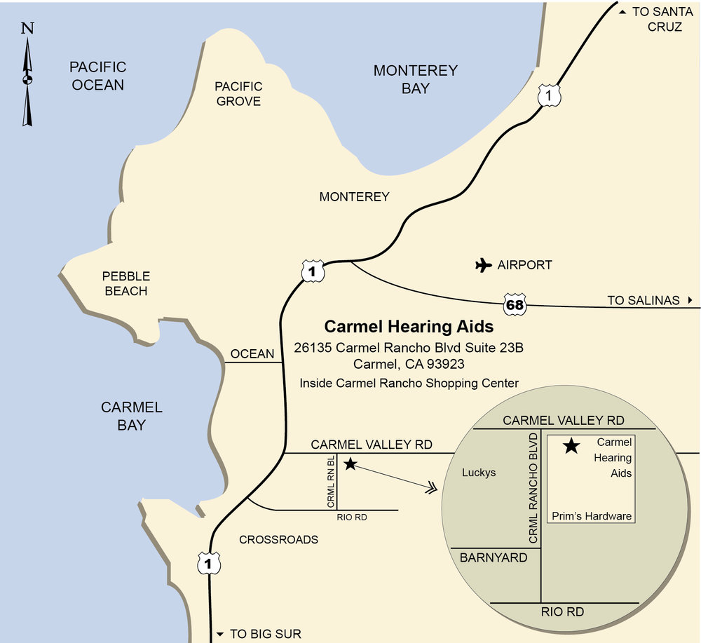 Carmel Hearing Aids Map