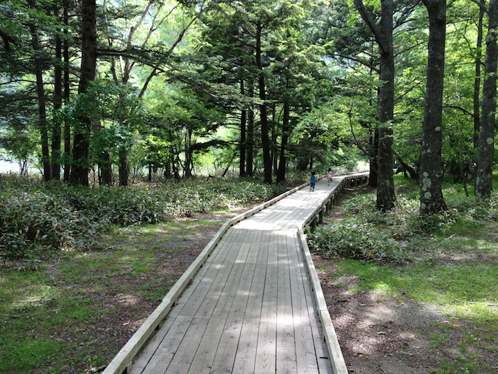 Lake Yu (yunoko) hiking trail head