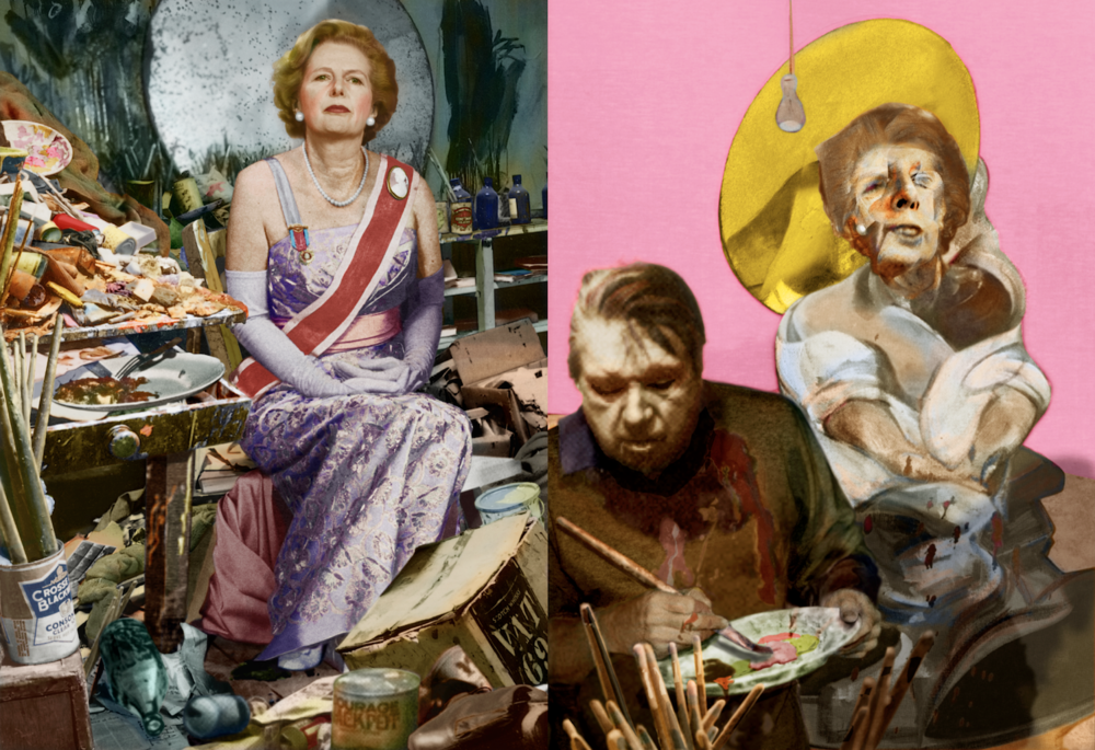 Margaret Thatcher and Francis Bacon, From Twentieth Century Dreams (Knopf, 1999)