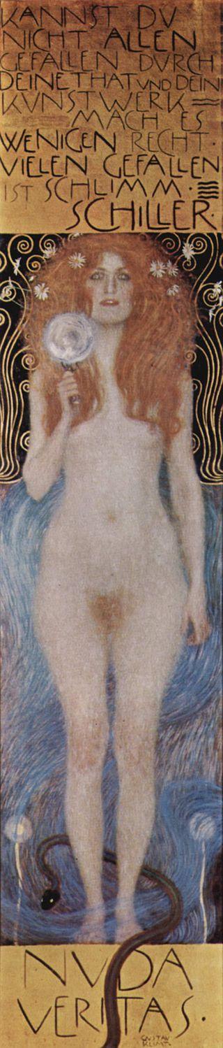 Gustav Klimt's  Nuda Veritas , 1899.
