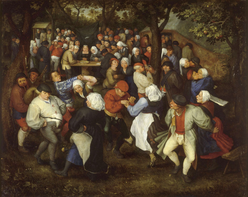 Jan Brueghel's The Wedding Dance, c.1600.