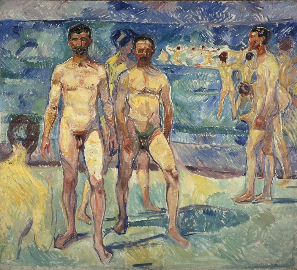 Edvard Munch's Bathing Men, 1907-1908.