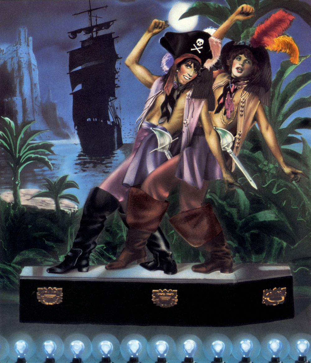 Keith Richards and Mick Jagger as dancing pirates, by Guy Peellaert, from Rock Dreams (1970-1973).