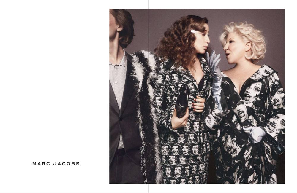 Bette Midler (right) in the Marc Jacobs Spring-Summer 2016 campaign