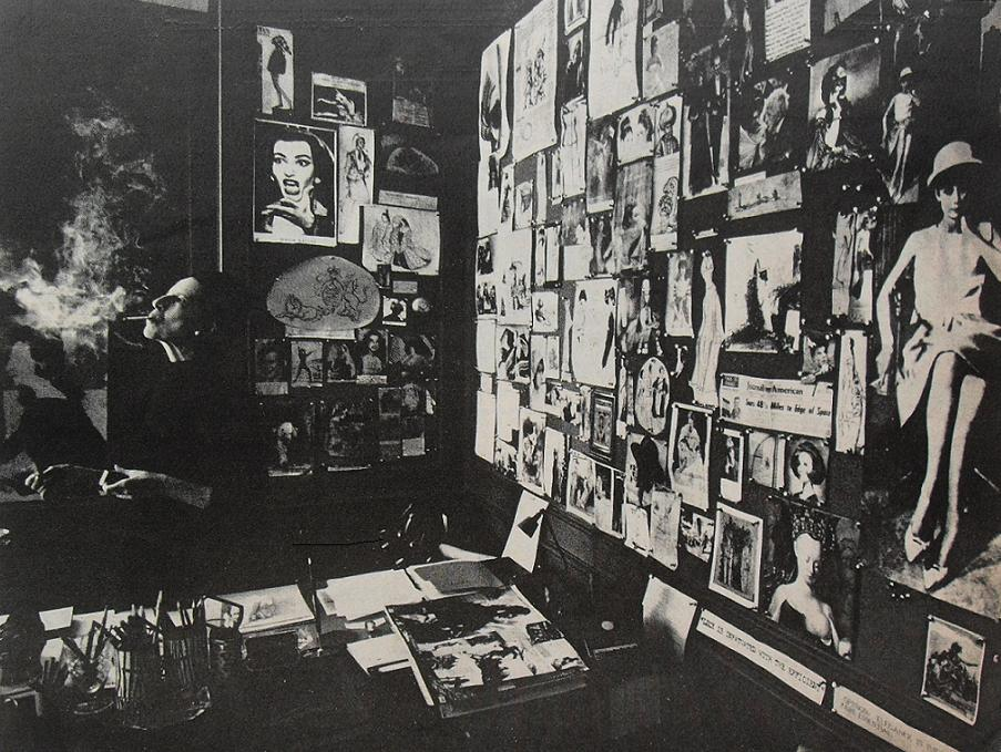 Diana Vreeland's office in the late 1960s, where a close-up of the Callas photograph is visible.
