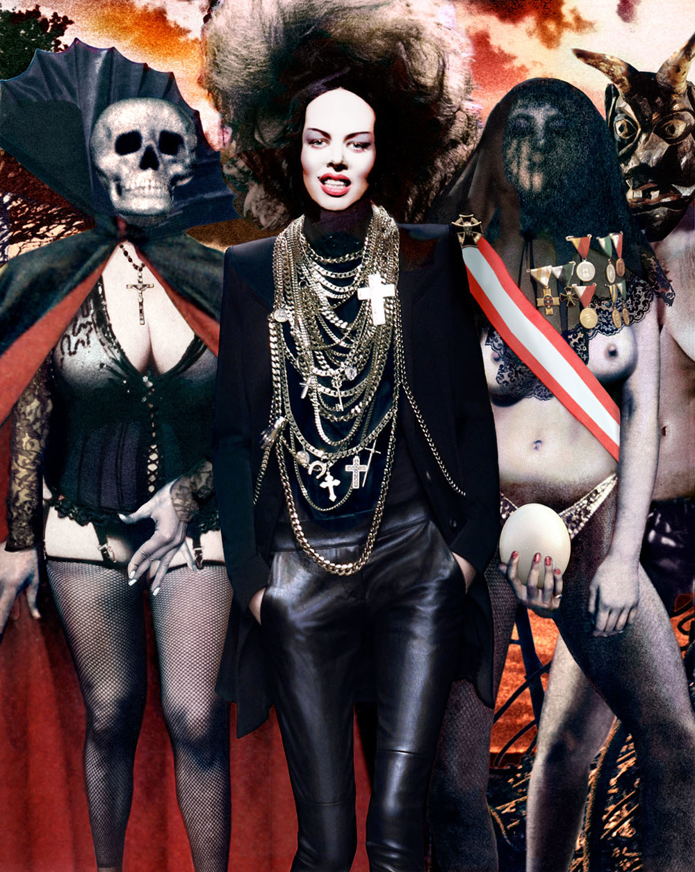 Kembra Pfahler by Guy Peellaert, from the  Fashion Dreams, part 2  series (2008)