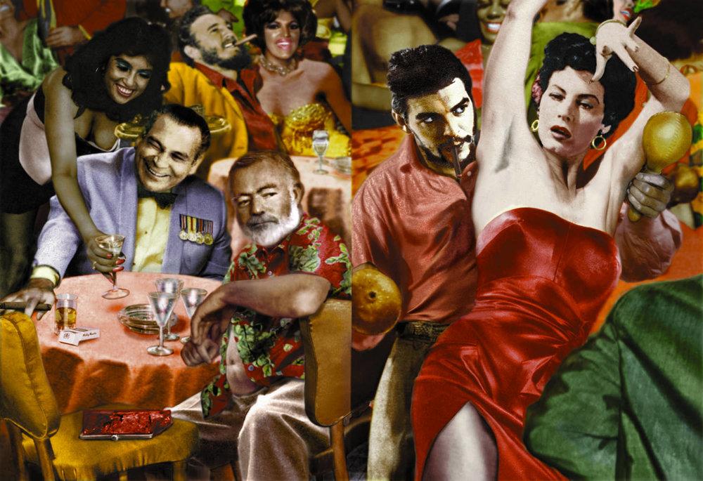 Guy Peellaert. Hara Toro (Fulgencio Batista, Fidel Castro, Ernest Hemingway, Ernesto Che Guevara, Ava Gardner) from Twentieth Century Dreams (1995-1999).