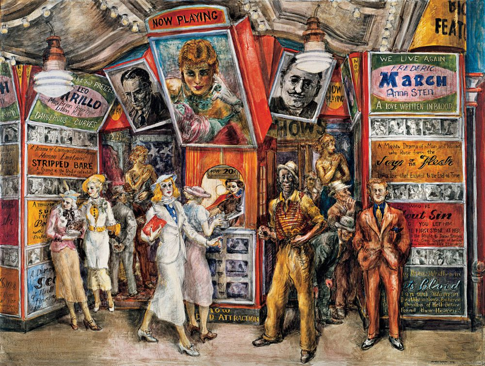 Reginald Marsh (1898-1954).  Twenty Cent Movie , 1935