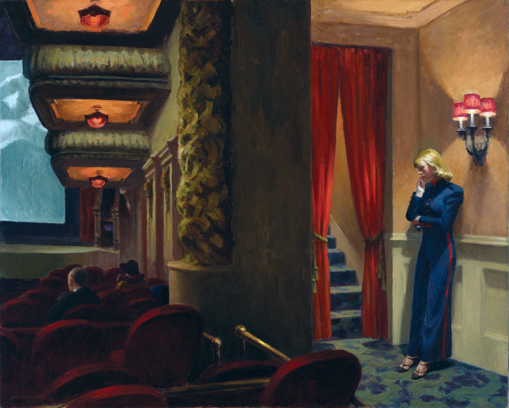 Edward Hopper (1882-1967).  New York Movie  (1939)