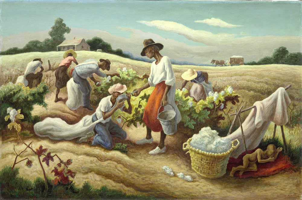 Thomas Hart Benton (1889-1975).  Cotton Pickers  (1945)