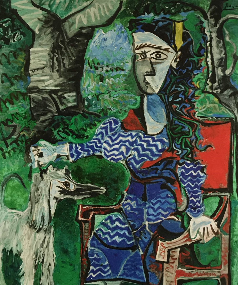 Pablo Picasso.  Woman in an Armchair. Mougins.  (1961-1962)