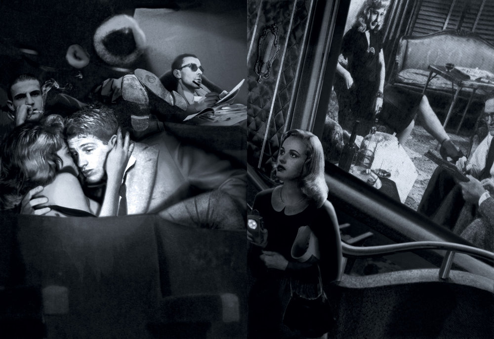 Guy Peellaert.  Nouvelle Vague  (François Truffaut, Jean-Paul Belmondo, Jean-Luc Godard and Jeanne Moreau). From the  Twentieth Century Dreams  series (1995-1999).