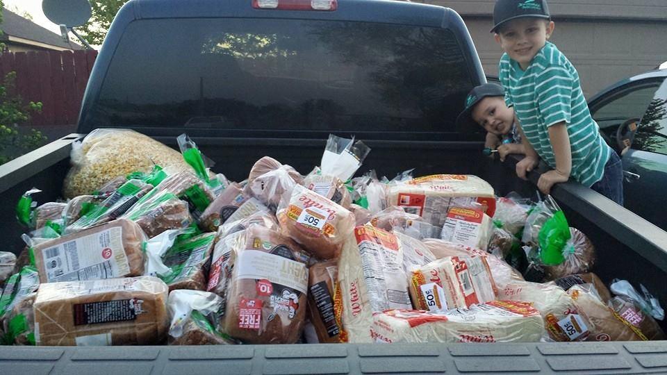 Make gathering and prepping bait a family affair, my boys love ripping bread bags and loading trash bags full of bread.