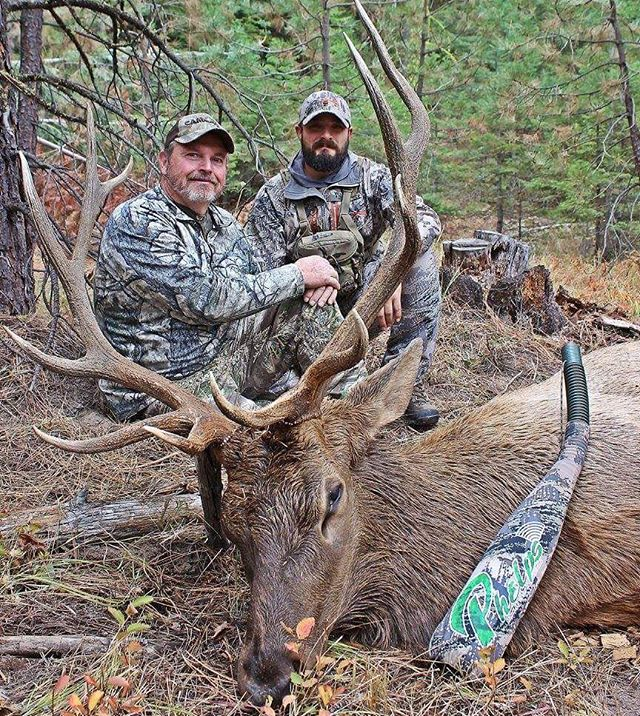 Here is a picture of Oregon's most feared elk hunter!  Switchbacks own @oregonbull360 father-in-law Mike is deadly when he enters the elk woods!  Pictured is his 40th Bull, all of which were shot in Oregon!! #masterelkhunter #goals #elkhunting