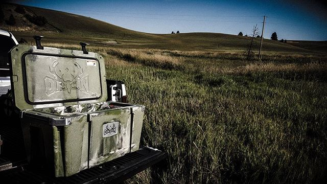 From the #desertchallenge to Northern Idaho and everywhere in between the @orioncoolers are tough to beat!  Extremely rugged and keep ice for days!! #orioncooler #keepyourvenisoncold #hunting