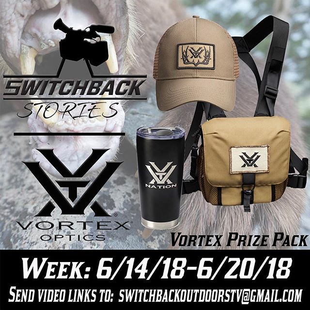 How about we give someone another @vortexoptics package for this weeks #switchbackstories be sure to send us your video!!! Link in bio