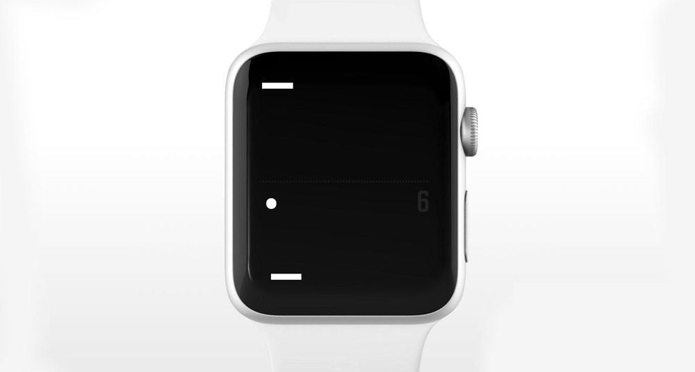 tiny game of pong on the Apple Watch