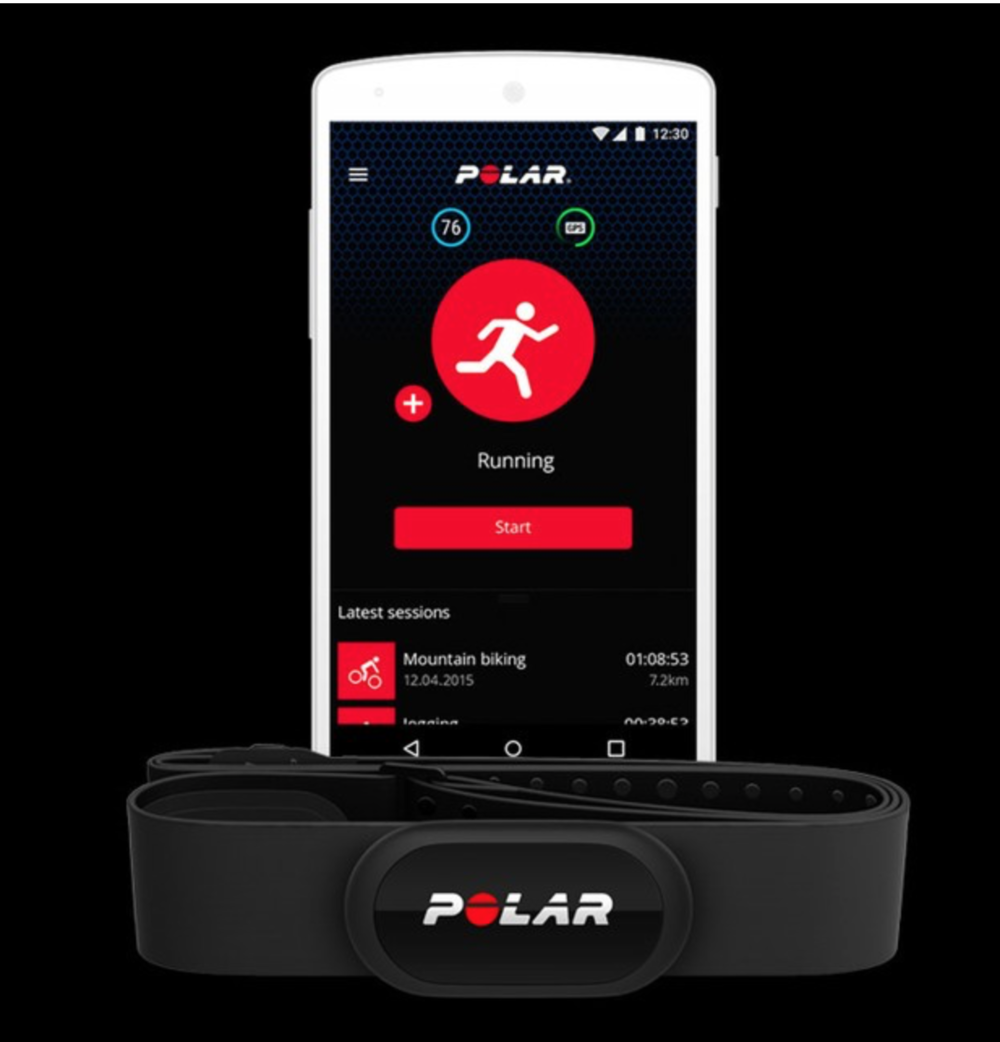 Polar H10 sensor and free app , one of  iMore's  top 3