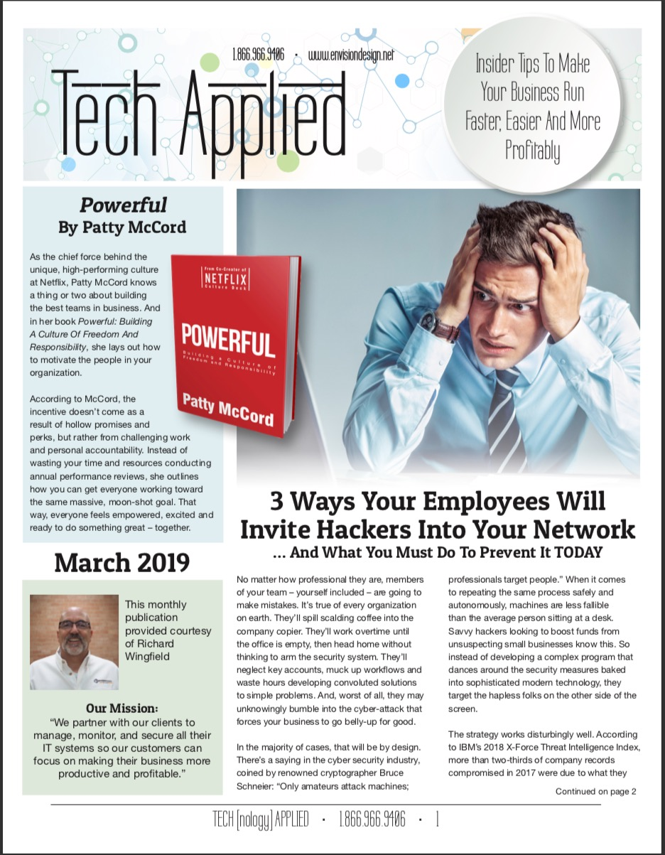 March 2019 Tech Applied Newsletter