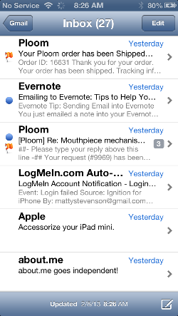 iOS Email App