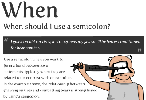Proper Use Of The Semicolon Mattystevenson