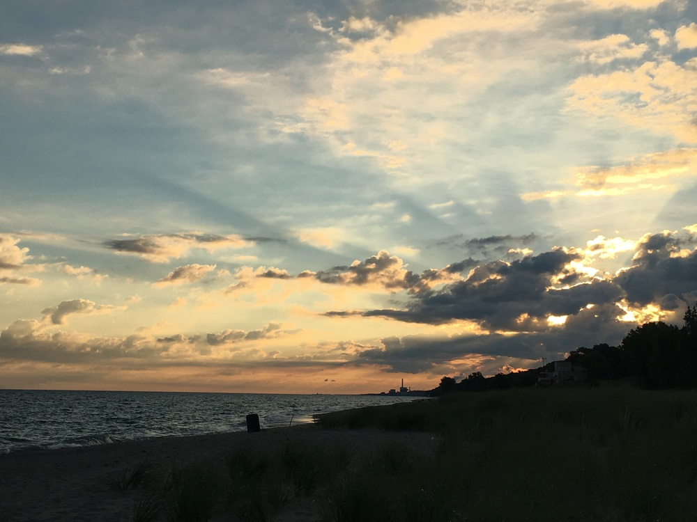 Meditation spot at Indiana Dunes State Park