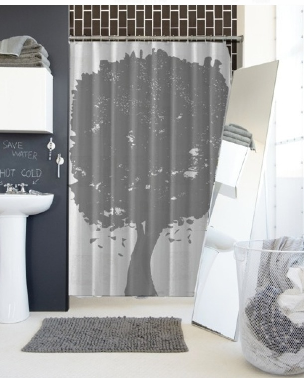 Tree Shower Curtain Accepted In CB2 EROSNER
