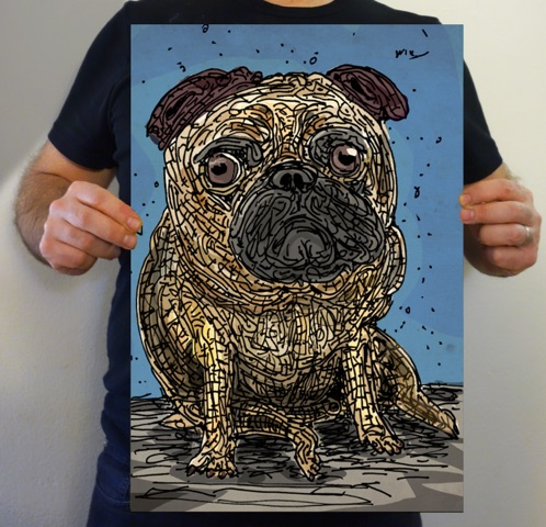 #pug #dog #cutey #cute #blue