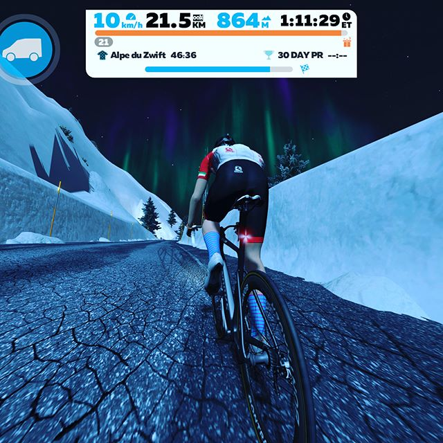 Fellow Zwifters. Stop what you're doing. 🛑 Get home early, make your excuses to your loved ones, fill your water bottles, maybe eat something - you're going to be a while, get on your bike and go and ride Alpe Du Zwift... . Rode it this morning as a firm rehab ride - knee still not right but strengthening with every ride. Anyway, it's fantastic! Basically an hour climb. Looking forward to doing it at full gas but frankly just enjoyed being on the mountain. Camaraderie amongst fellow riders was everywhere with loads of 'Ride ons'. .  Great thing about this climb is that it is largely pretty constant which is great for climbers, time triallers and triathletes alike. . I should add perfect timing by the Zwift crew to launch it on a cold rainy day in the U.K. 🇬🇧😜 .  Thank you @gozwift 👍🏻🤗! . Go enjoy and let me know what you think. .  #precisioncoaching #gozwift #gozwifttri #iamspecialized_tri #iamspecialized #iamspecialized_road #triathlon