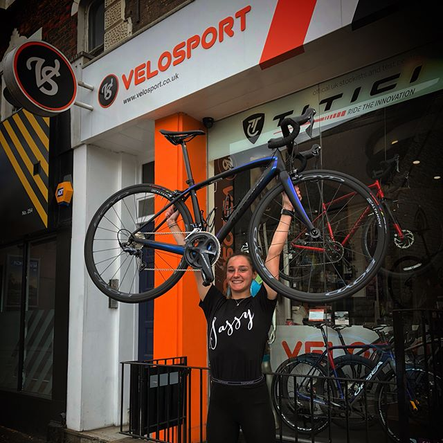 Precision athlete @hollydixonxx picking up her new @iamspecialized_tri with @noblewheels from @velosportuk Stunning bike and wheels with a great service and fit from Steve at Velosport. . .  Excited to see what this young lady can do on a level playing field... Go follow her journey. . .  #precisioncoaching #coach #newbike #newbikeday #iamspecialized_tri #iamspecialized_road #iamspecialized #noblewheels #velosport #triathlon