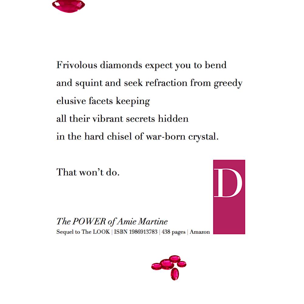 frivolous diamonds - D prefers rubies