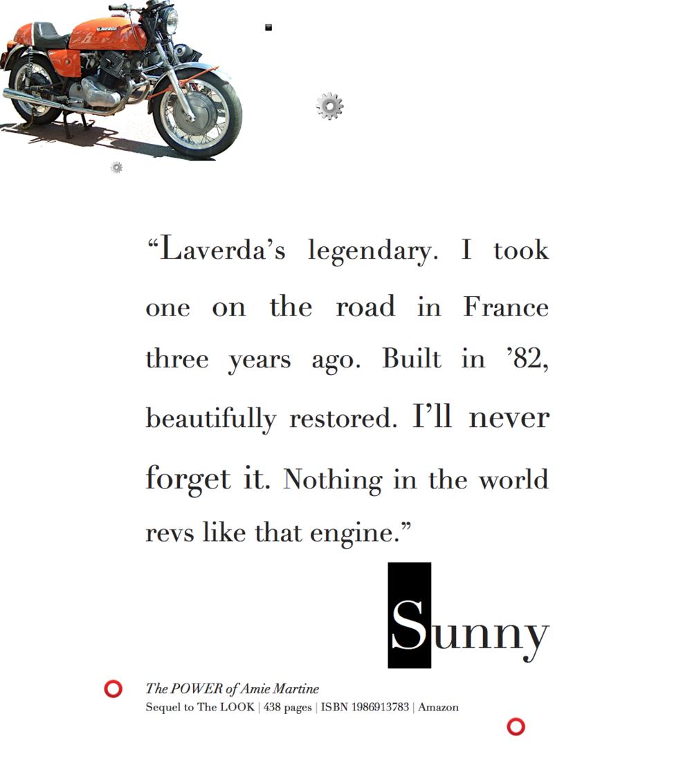 Sunny loves a rowdy, classic motorcycle: Laverda Jota