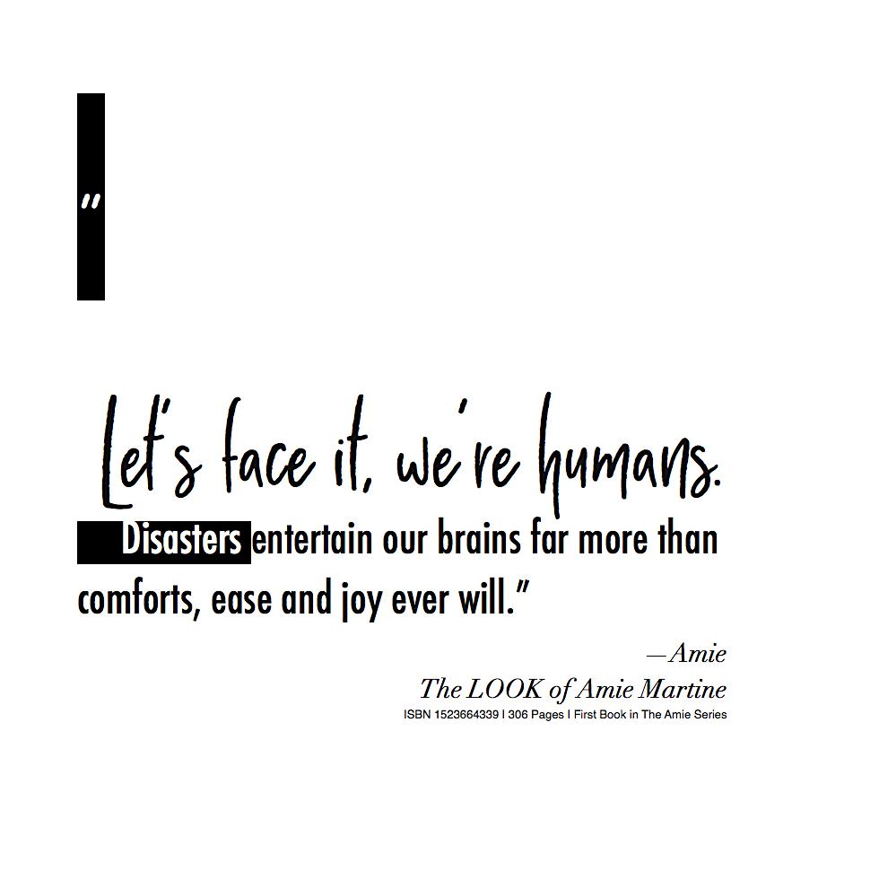 let's face it, we're humans