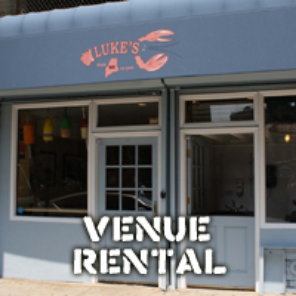 VENUE RENTAL  MENU You can rent out our FiDi location in NYC or our Georgetown location in DC! The FiDi space holds up to 45 people, Georgetown space holds up to 30 people and Philadelphia up to 45 people. Both spaces offer a flexible menu that can accommodate vegetarians. Craft beer and wine options are available at FiDi. NYC: email Lauren at NYcatering@lukeslobster.com  DC: email Haley at DCcatering@lukeslobster.com  PHL: email Lizzy at PHLcatering@lukeslobster.com